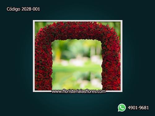 Arcos bellos de flores para empresas