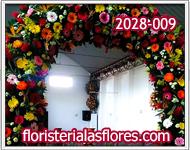 Arcos florales para fiestas