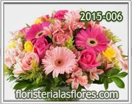 flores para mujeres con rosas y gerberas