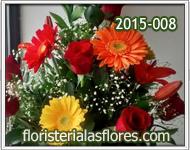 arreglos de rosas con gerberas para mujeres