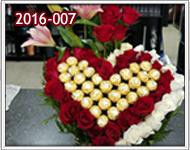 Rosas Rojas y Blancas para enamorados