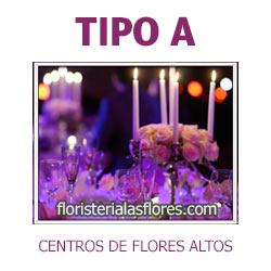 centro de flores altos