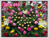 Envío de Arreglos de Rosas de Colores con Chocolates en Guatemala