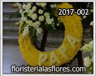corona de flores especial con letras para enviar condolencias