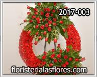 corona de flores roja especial