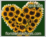flores a guatemala girasoles en corazon