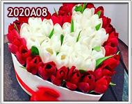 flores para un amor puro y autentico rojo y blanco