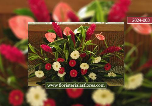 Decoraciones con flores de eventos en centros académicos