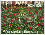 jardineras con flores para tarimas
