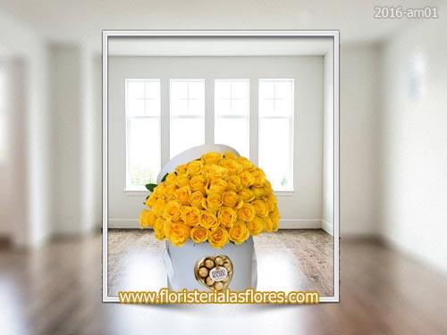 arreglos florales en guatemala de rosas amarillas