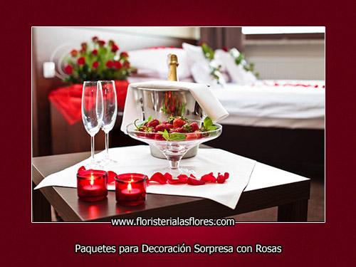 sorpresas romanticas para habitaciones llenas de rosas por floristeria las flores