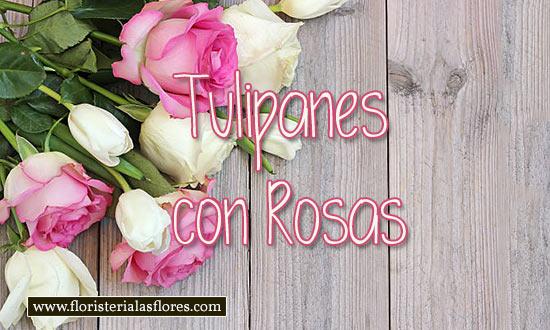 arreglos de tulipanes y rosas