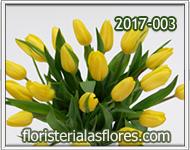 Arreglos con tulipanes amarillos