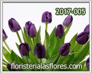 Tulipanes de color purpura