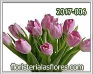 Tulipanes de color rosado claro