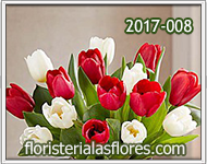 Arreglos de tulipanes para enamorados