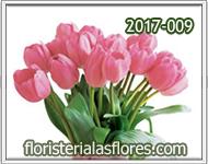 Arreglos con tulipanes rosados