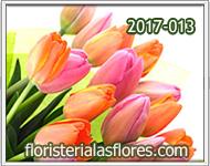 Ramos bellos de tulipanes
