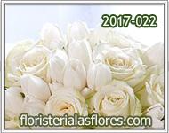 Arreglos especiales de tulipanes y rosas blancas