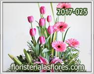 Arreglos combinados de tulipanes con gerberas