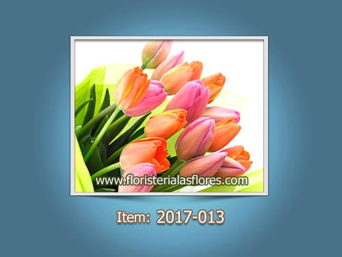 Ramos para novias de tulipanes