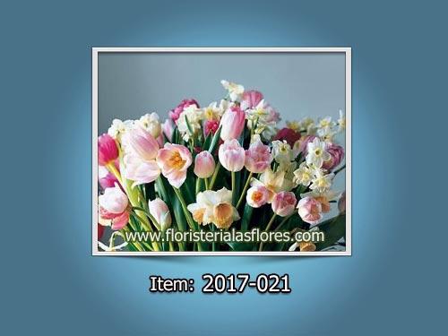 Arreglos de Tulipanes naturales importados